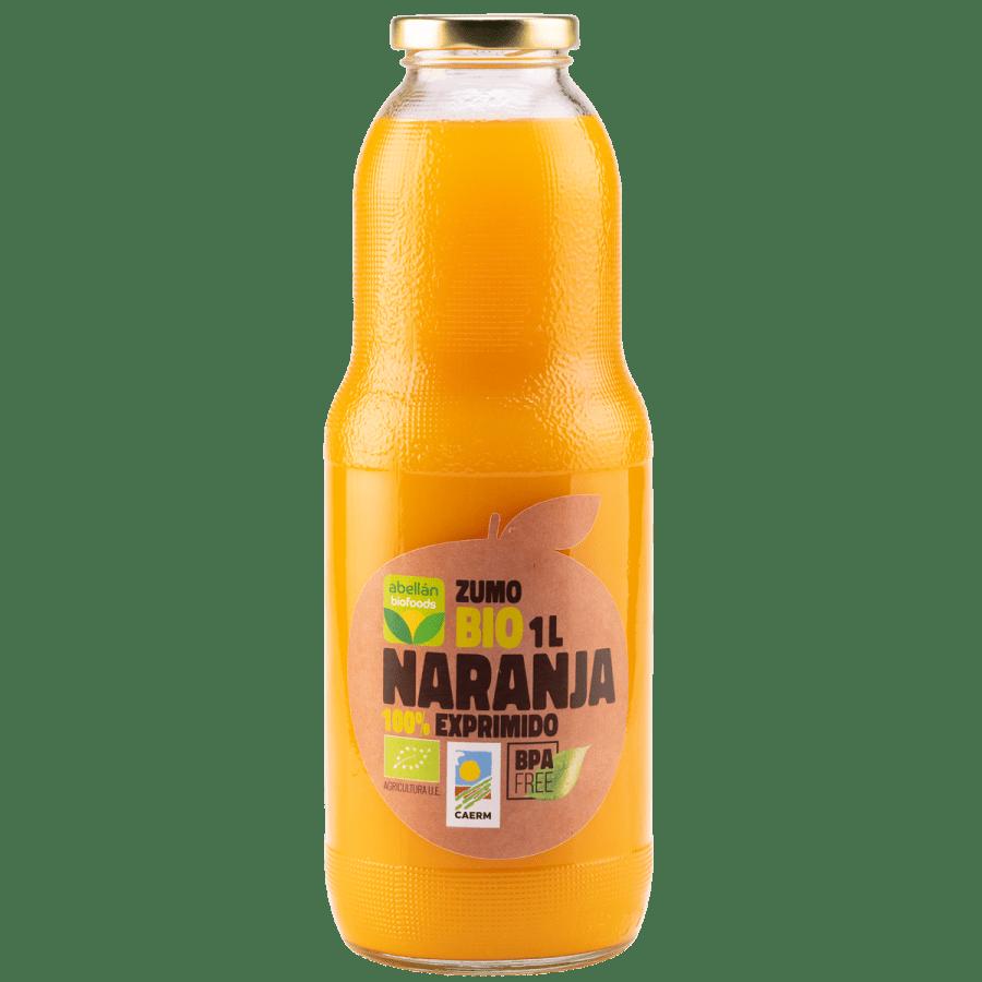 Zumo bio de naranja 100% exprimido