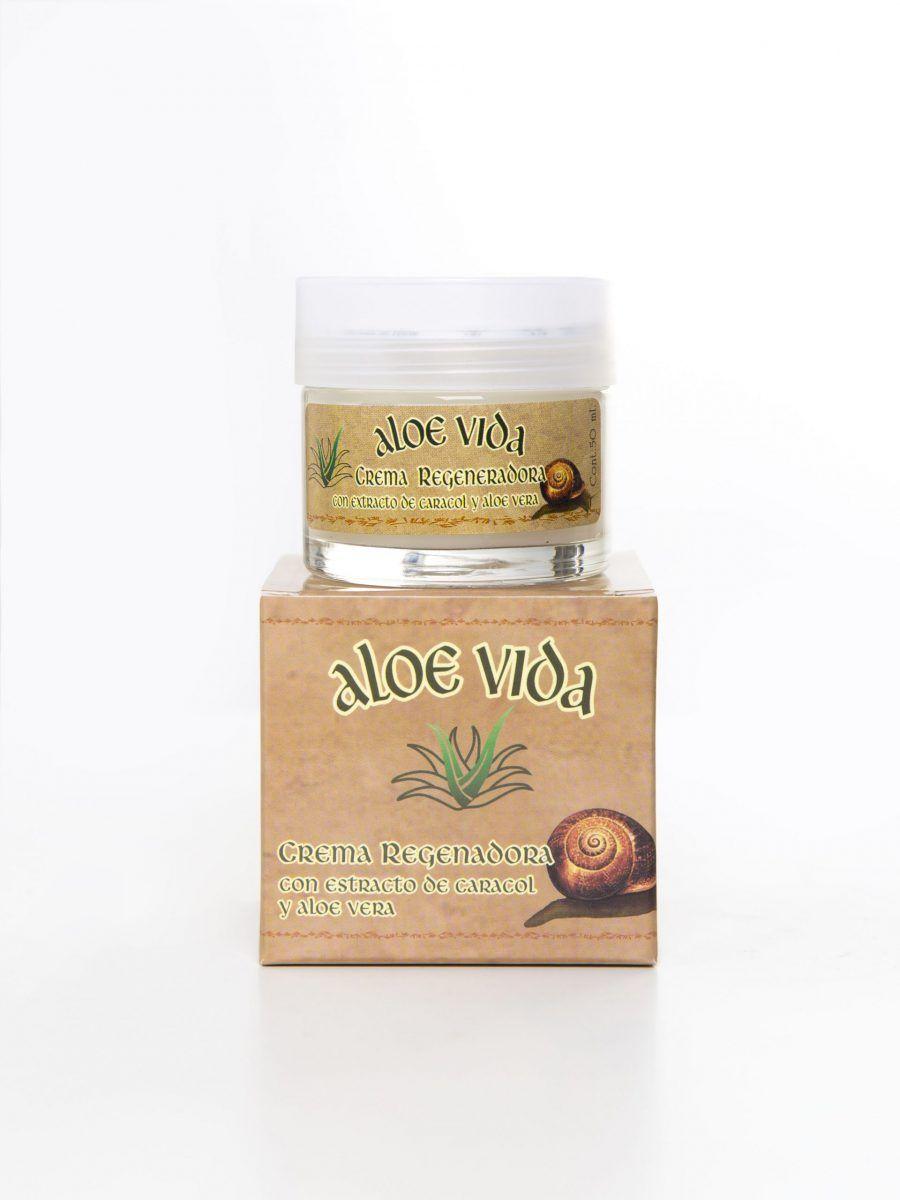 Crema regeneradora de Aloe Vera y baba de caracol