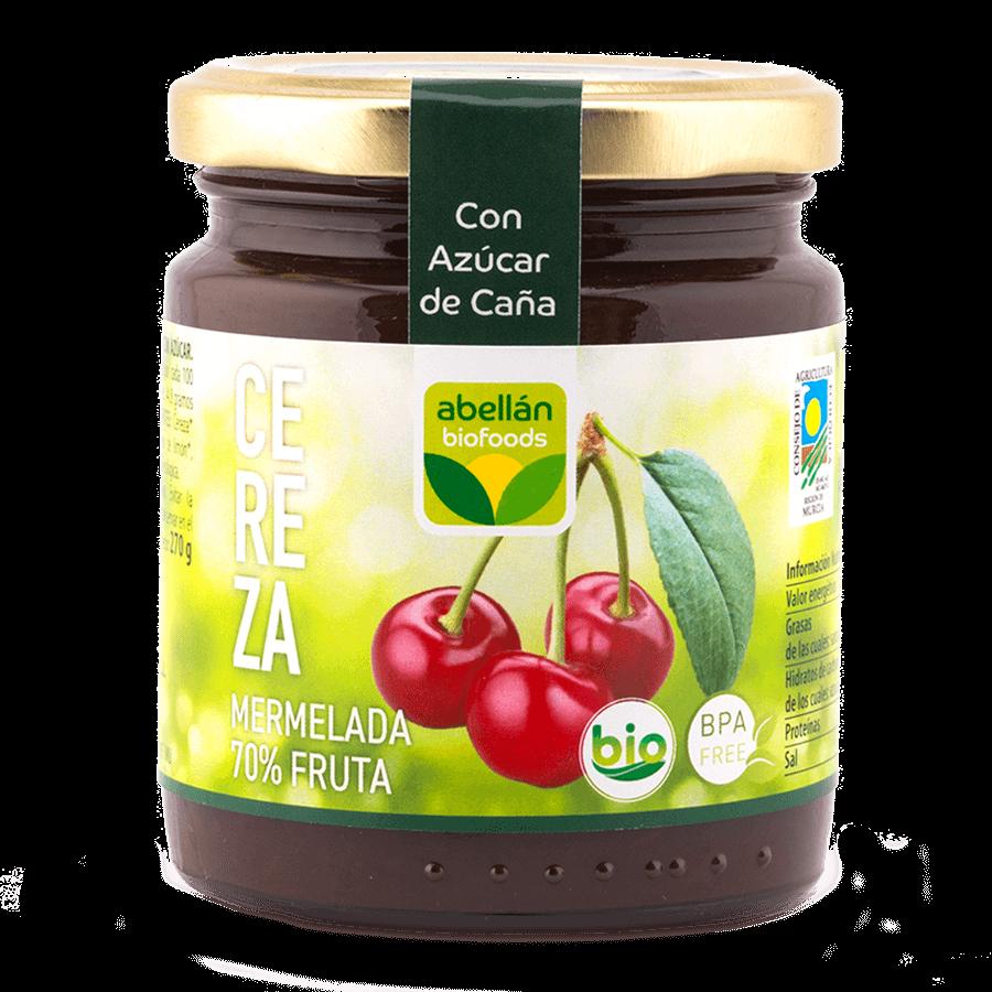 Mermelada de cereza con azúcar de caña