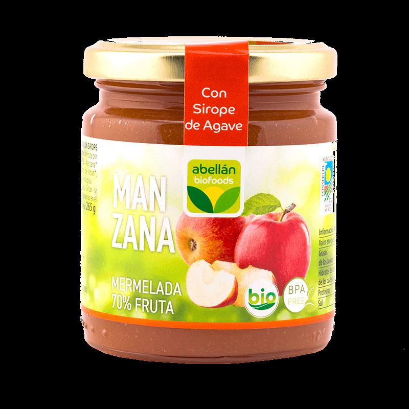 Mermelada de manzana e infusión de canela con sirope de agave