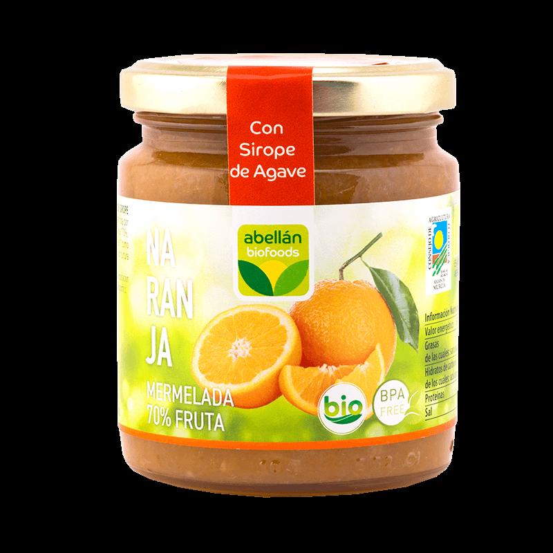 Mermelada de naranja con infusión de canela con sirope de agave
